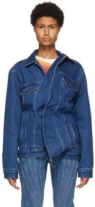 Y/Project Blue Denim Twisted Jacket