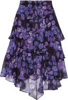 Jason Wu Ruffled printed silk-chiffon skirt