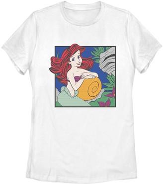 Fifth Sun Juniors' Disney The Little Mermaid Ariel Comic Tee