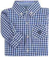 Andy & Evan Poplin Classic Gingham Shirt, Navy, Size 2-6