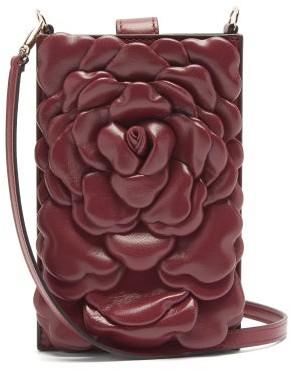 Valentino Atelier Mini Petal-effect Leather Shoulder Bag - Red