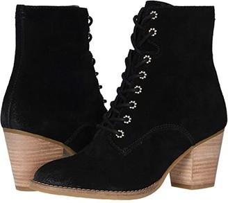 Frye Allister Lace-Up (Black Suede) Women's Boots