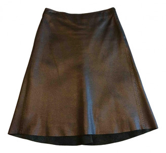 Hermes Black Leather Skirts