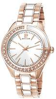 Pierre Cardin Neuilly Women's Quartz Watch with Silver Dial Analogue Display and Rose Gold Stainless Steel Bracelet PC106832S05