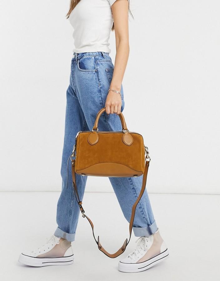 Rebecca Minkoff pippa suede duffle bag in brown