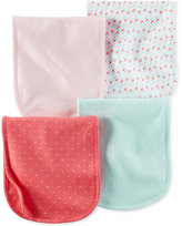 Carter's Baby Girls' 4-Pack Hello Cutie Burp Cloths
