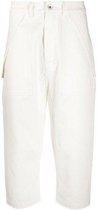 Rick Owens Side Pocket Detail Cropped Trousers