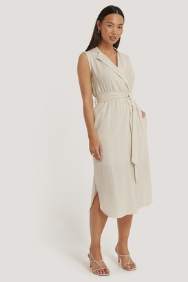 Trendyol Belted Double-Breasted Collar Dress