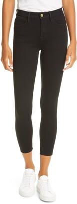 Frame 24-Hour Le High Waist Crop Skinny Jeans