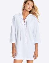 Seafolly Island Vibe Lace Up Towelling Cover Up
