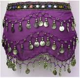 Pilot-trade clothing trade co. Pilot-trade Women's Chiffon Arabic Belly Dance Gold Coin Belt Hip Scarf Skirt Wrap Black