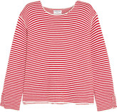 Frame Le Knit Crew striped cotton sweater