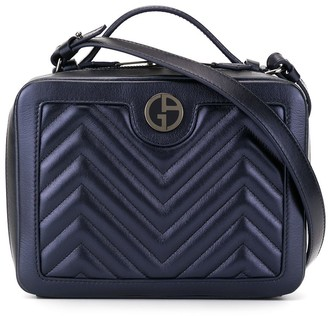 Giorgio Armani Quilted Box logo bag