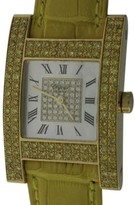 Chopard H 13/6818-45 18K Yellow Gold & Leather MOP & Diamond 24.5mm Watch
