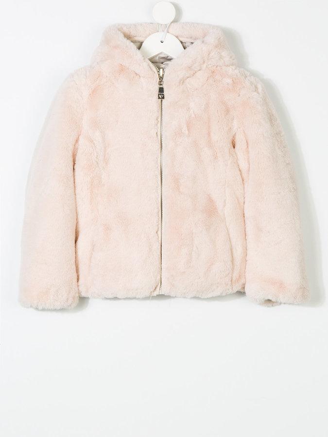 MonnaLisa floral print padded jacket