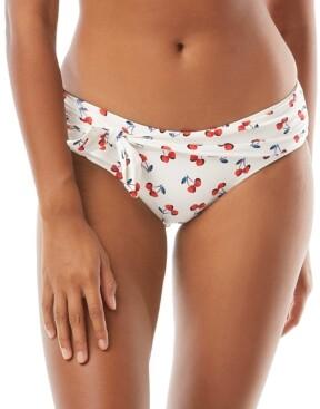 Kate Spade Cherry-Print Tie-Waist Bikini Bottoms Women's Swimsuit