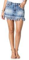 Miss Me Women's Fray Edge Denim Skirt