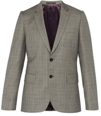 Paul Smith Price Of Wales Checked Wool Blazer - Mens - Grey Multi