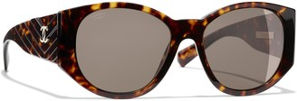 Chanel Oval Sunglasses CH5411 Tortoise/Brown