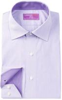 Lorenzo Uomo Oxford Stripe Trim Fit Dress Shirt