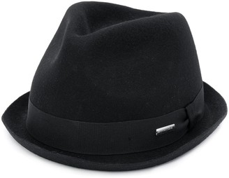 DSQUARED2 Knitted Logo Plaque Detail Fedora Hat