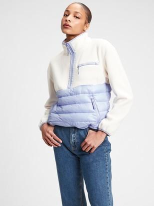 Gap GapFit 100% Recycled Fleece Puffer Jacket