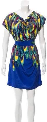 Trina Turk Printed Silk Dress