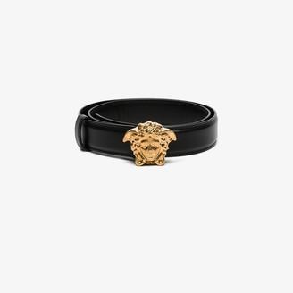 Versace Black Medusa buckle belt