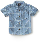 Tea Collection Mosaic Short Sleeve Sport Shirt (Baby Boys)