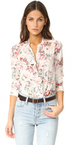 Rebecca Taylor Long Sleeve Rose Ruffle Top