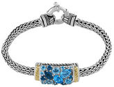 Effy London Blue Topaz, Sterling Silver and 18K Yellow Gold Bracelet