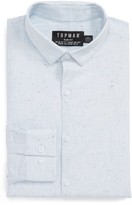 Topman Men's Slim Fit Nep Shirt