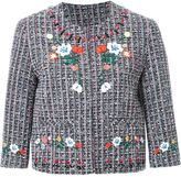 SteveJ & YoniP Steve J & Yoni P - embroidered tweed jacket - women - Cotton/Nylon/Polyester/Rayon - S