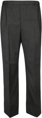 N°21 N.21 Ribbed Elastic Waist Trousers