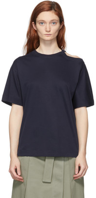 Sportmax Navy Raid Cut-Out T-Shirt