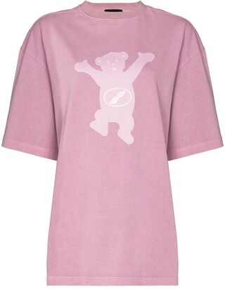 we11done Teddy print T-shirt