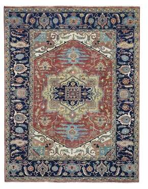 """R & E Darby Home Co One-of-a-Kind Manigault Re Creation Hand-Knotted 5' x 7'4"""" Wool Red Area Rug Darby Home Co"""
