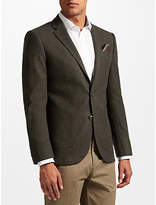 John Lewis Donegal Tailored Fit Wool Suit Jacket, Green