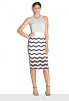 Milly Chevron Jacquard Pencil Skirt