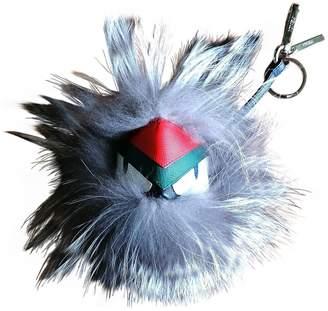 Fendi Bag Bug Grey Fur Bag charms