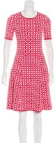 Pink Tartan Geometric Patterned A-Line Dress w/ Tags