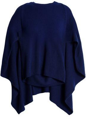 Valentino Cape-effect Cashmere Sweater