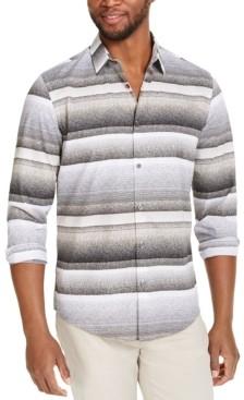 Alfani Men's Varied Stripe Shirt, Created for Macy's