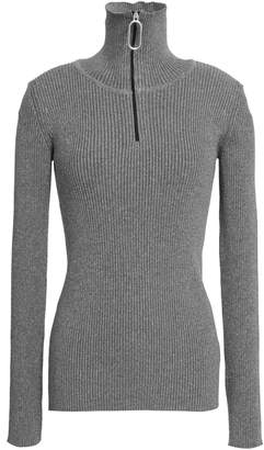 Markus Lupfer Metallic Ribbed-knit Turtleneck Sweater