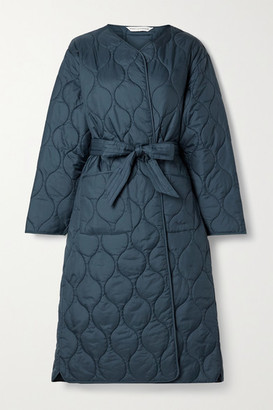 Barbour Alexachung Martha Belted Quilted Shell Coat - Navy