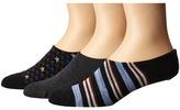 Converse 3-Pack Made for Chucks Americana Men's No Show Socks Shoes