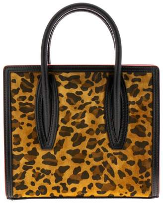 Christian Louboutin Paloma Mini Bag In Animalier Suede Leather And Rubber With Carved Logo