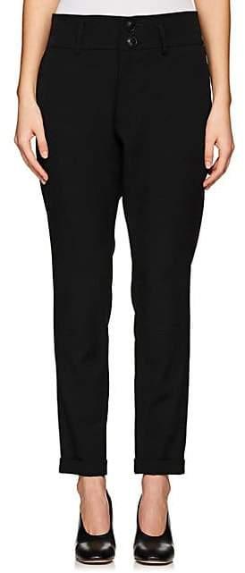Yohji Yamamoto Regulation Women's Wool Slim Ankle Pants - Black
