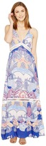 Brigitte Bailey Shaleen Spaghetti Strap Maxi Dress with Lace Inset Women's Dress