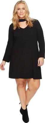 Karen Kane Women's Plus Size Mockneck Taylor Dress